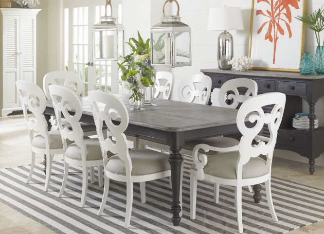 Coastal Living Gloucester Grey Rectangular Dining Room Set