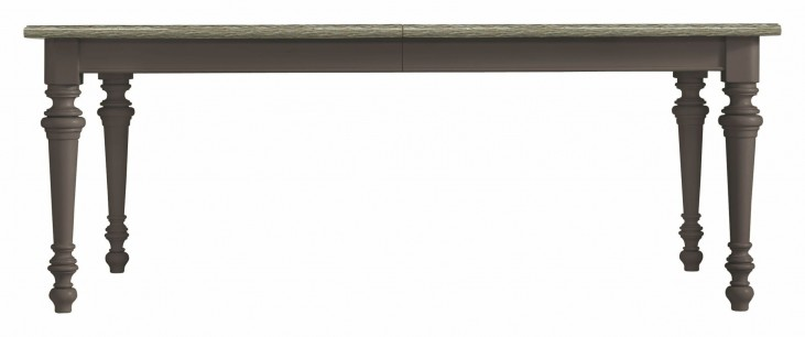Coastal Living Gloucester Grey Rectangular Leg Table