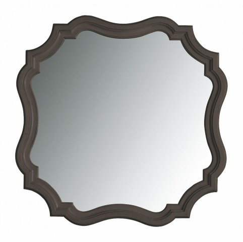 Coastal Living Gloucester Grey Piecrust Mirror