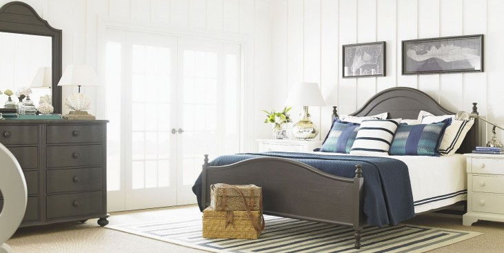Coastal Living Gloucester Grey Bungalow Bedroom Set