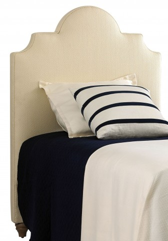 Coastal Living Irish White Herringbone Breach Inlet Twin Headboard