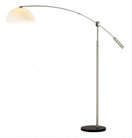 Outreach Satin Steel Arc Lamp