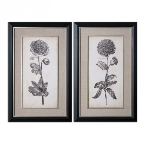 Singular Beauty Floral Art Set of 2
