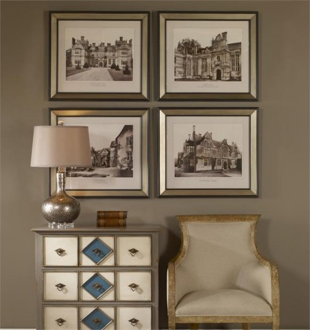 English Cottage Wall Art Set of 4