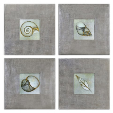 Neptunes Garden Framed Art Set of 4