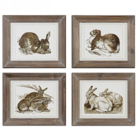 Regal Rabbits Framed Art