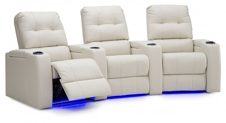 Record Vinyl Power Reclining Home Theatre Seating