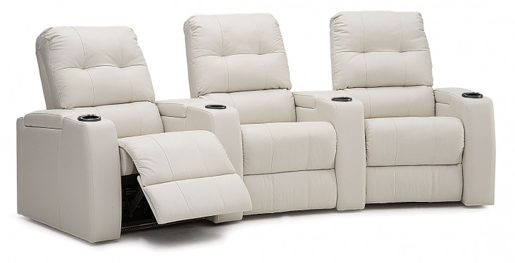Record Bonded Leather Power Reclining Home Theatre Seating