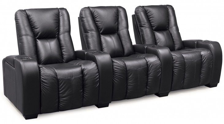 Media Bonded Leather Power Reclining Home Theatre Seating