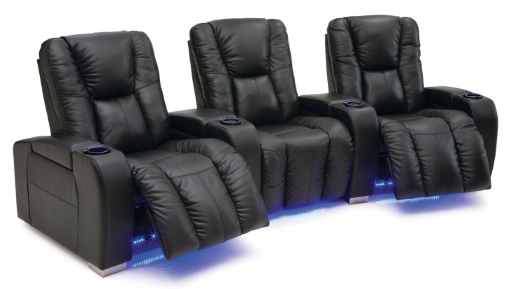 Media Vinyl Power Reclining Home Theatre Seating