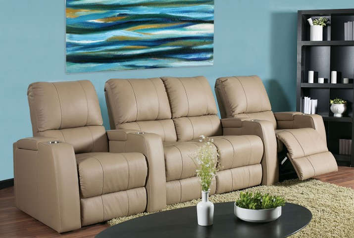 Playback Vinyl Power Reclining Home Theatre Seating