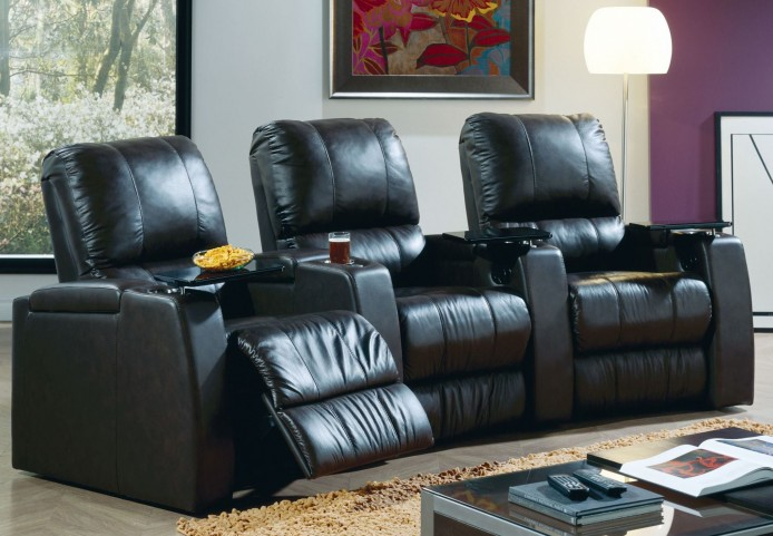 Playback Bonded Leather Power Reclining Home Theatre Seating
