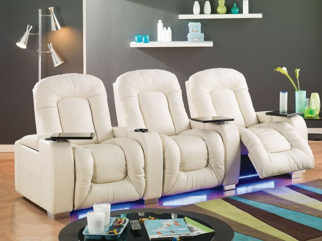 Mendoza Bonded Leather Home Theatre Seating