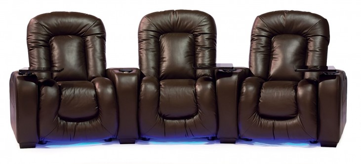 Mendoza Leather Power Reclining Home Theatre Seating