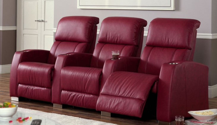 Hifi Bonded Leather Power Reclining Home Theatre Seating