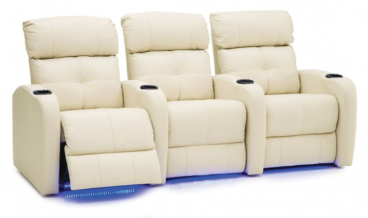 Stereo Leather Power Reclining Home Theatre Seating
