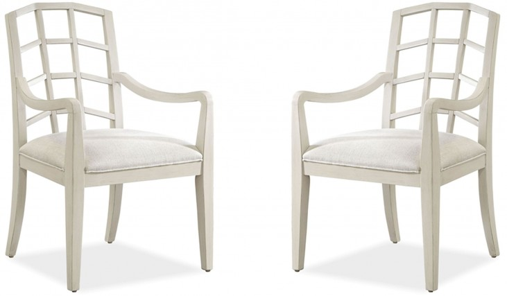 Moderne Muse Canvas Arm Chair Set of 2