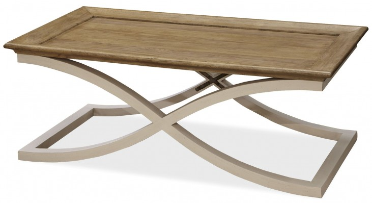 Moderne Muse Bisque Cocktail Table