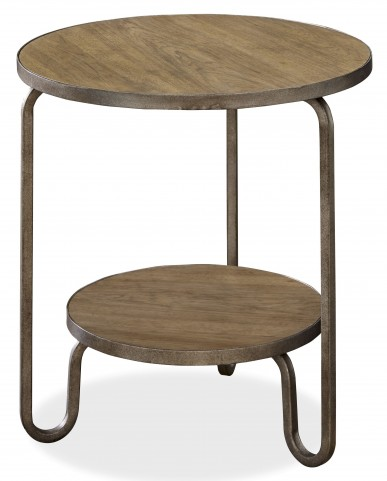 Moderne Muse Bisque Round End Table