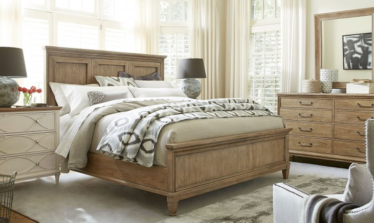 Moderne Muse Bisque Panel Bedroom Set