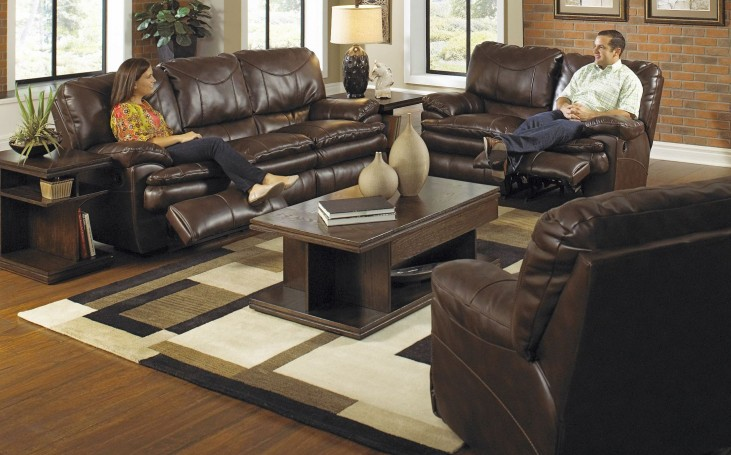 Perez Chestnut Power Reclining Living Room Set