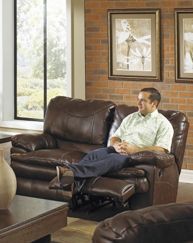Perez Chestnut Power Reclining Loveseat