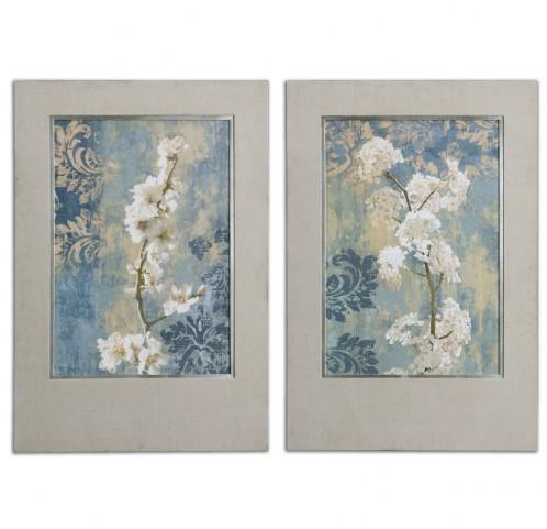 Blossoms Framed Art Set of 2