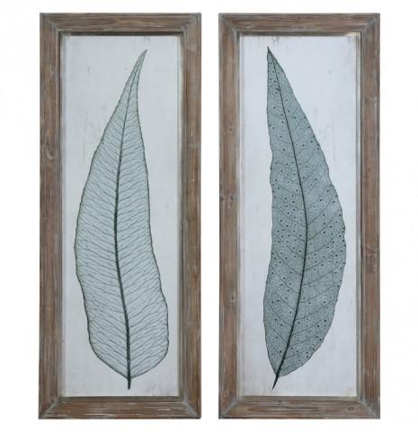 Tall Leaves Framed Art Set of 2