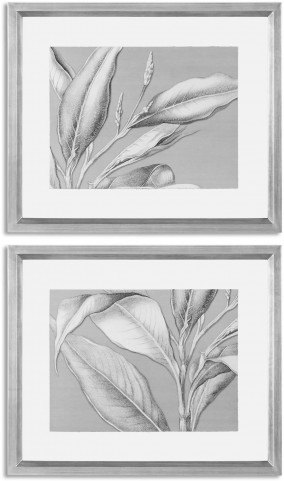 Floating Leaves Floral Art Set of 2