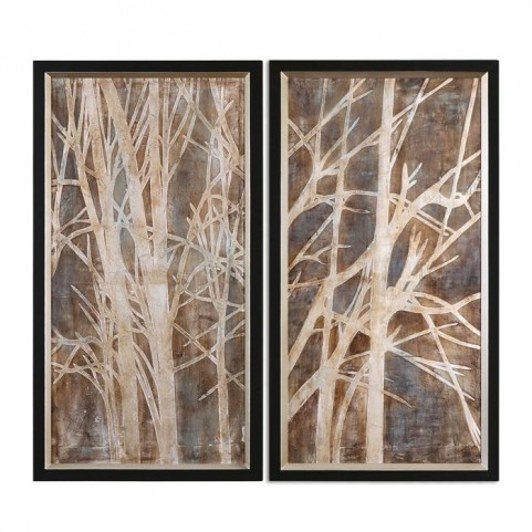 Twigs Hand Painted Art Set of 2