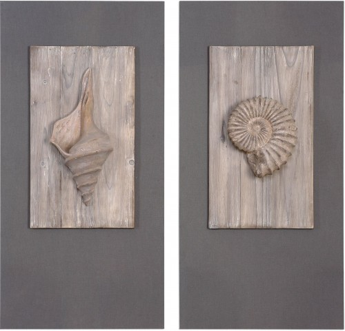 Shell Sculpture Art Set of 2