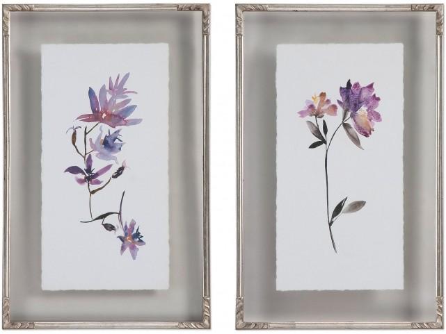 Floral Watercolors Art Set of 2