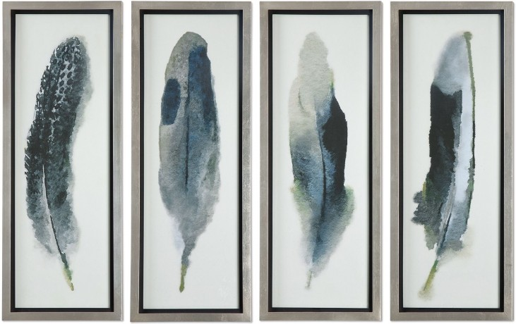 Feathered Beauty Prints Set of 4