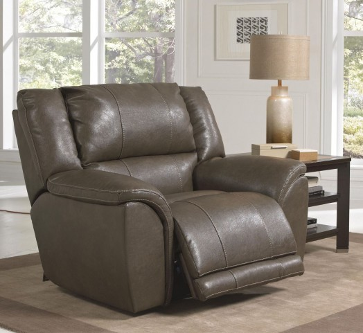 Carmine Smoke Power Recliner