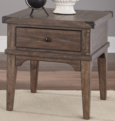 Aspen Skies Russet Brown End Table