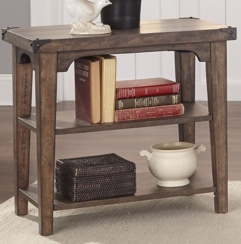 Aspen Skies Russet Brown Chair Side Table