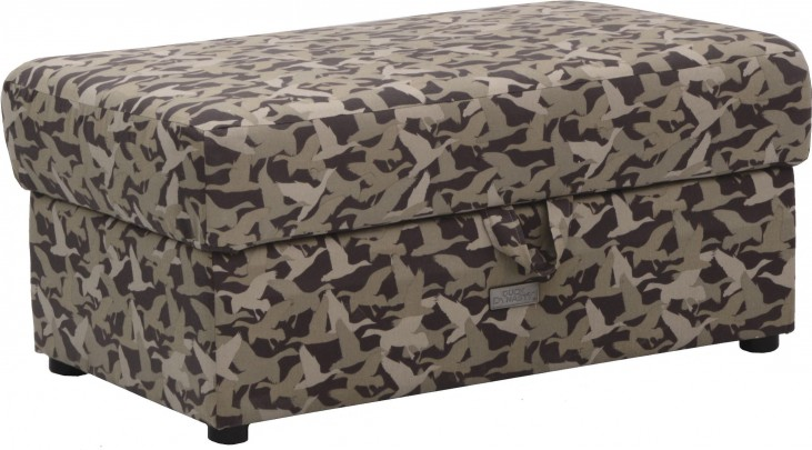 Birch Creek Duck Camo Storage Ottoman