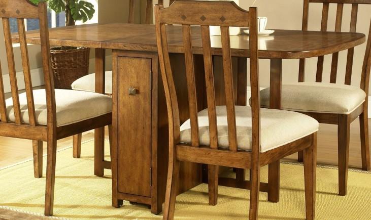 Craftsman Warm Deep Brown Drop Leaf Gate Leg Table