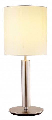 Hollywood Satin Steel Table Lamp