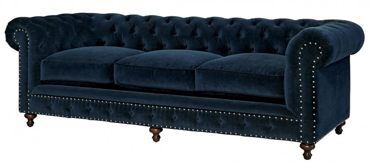 Berkeley Sumatra Blue Velvet Sofa