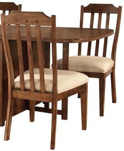 Craftsman Warm Deep Brown Side Chair Set of 2