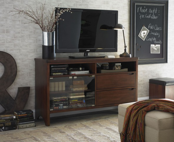 Manhattan Deep Walnut TV Console