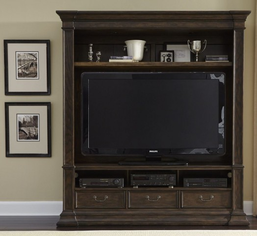 Mendenhall I Rustic Brown Entertainment Center