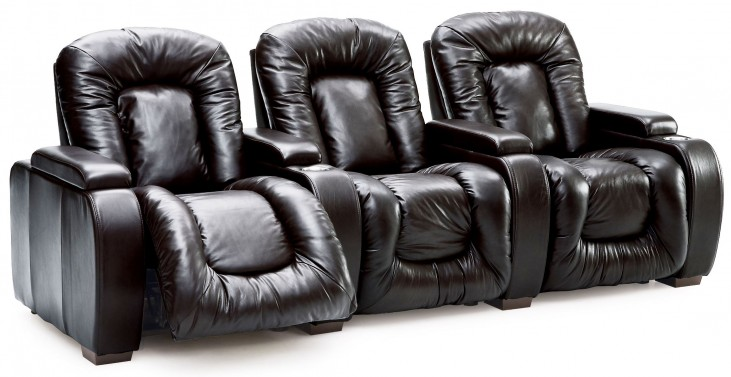 Rhumba Leather Power Reclining Home Theatre Seating