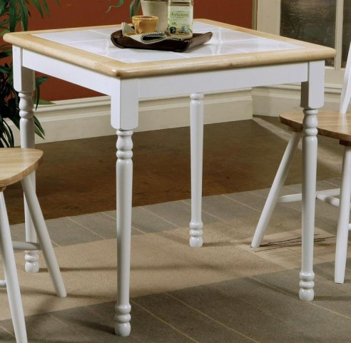 Damen Natural/White Square Tile Top Dining Table