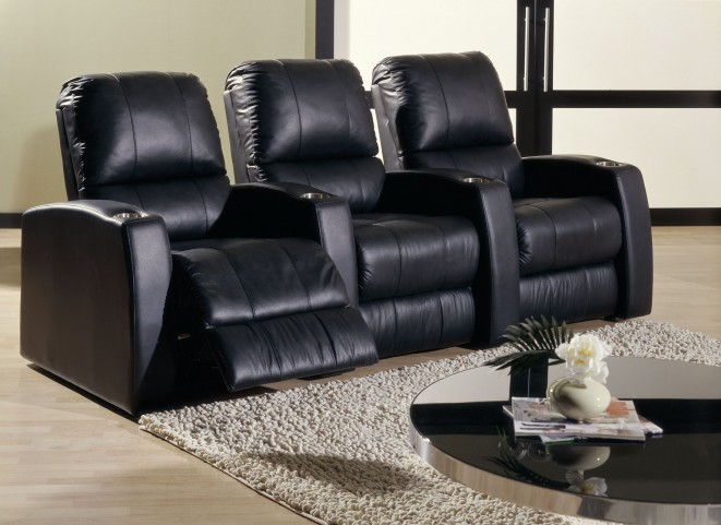 Pacifico Bonded Leather Power Reclining Home Theatre Seating