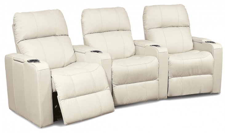 Elite Upholstered Power Reclining Home Theatre Seating