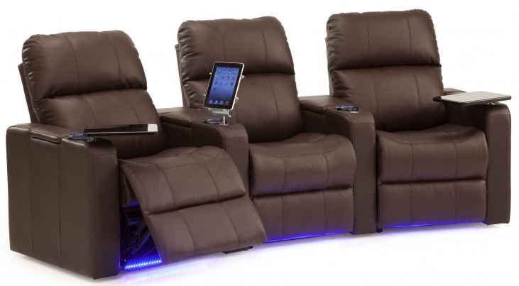 Elite Vinyl Power Reclining Home Theatre Seating