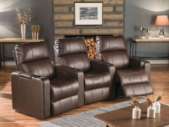 Elite Leather Power Reclining Home Theatre Seating