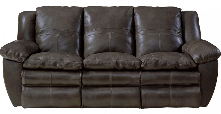 Aria Chocolate Lay Flat Reclining Sofa